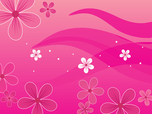 Pink Background With Blossoms