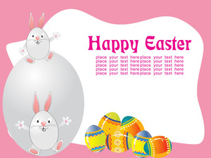 Pink Background With Decorated Egg
