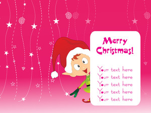 Pink Background With Santa