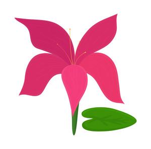 Pink Blossom Vector Art