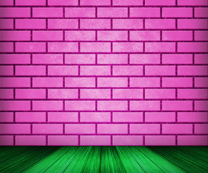 Pink Brick Room Backdrop