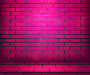 Pink Brick Stage Background