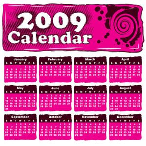 Pink Calendar With A Banner