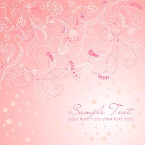 粉紅色的聖誕賀卡
