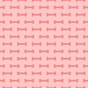 Pink Dog Bone Pattern