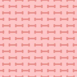 Pink Dog Bone Pattern