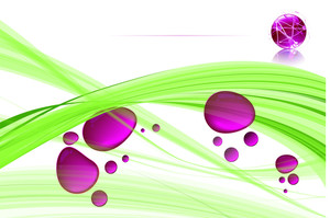 Pink Drops. Vector Template.