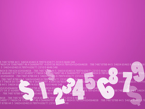 Pink Finance Background