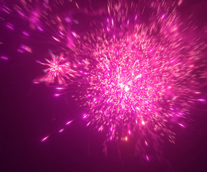 Pink Fireworks Background