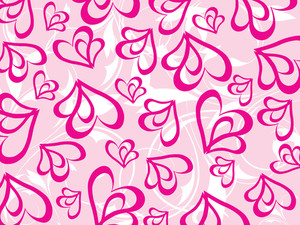 Pink Floral And Heart