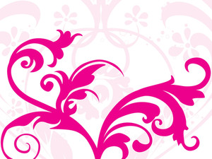 Pink Floral Pattern Background