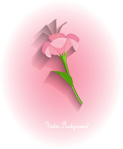 Pink Flower Vector Greeting