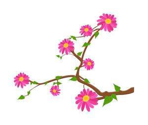 Pink Flowers Twig