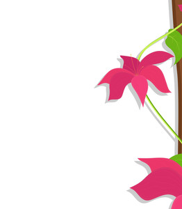 Pink Flowers Vector Banner Design