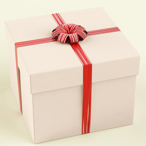Pink Gift Box As Birthday Present For Girl