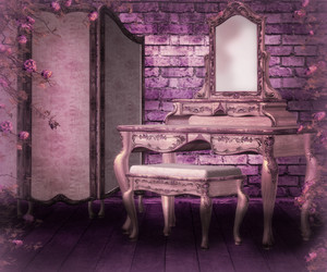 Pink Gothic Interior Background