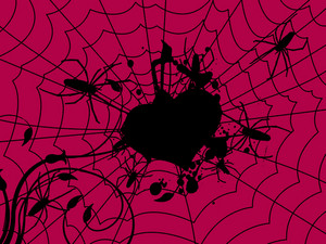 Pink Halloween Background