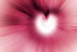Pink Heart Abstract Background
