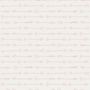 Pink Heart Arrows Pattern On A Grey Background