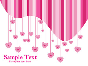 Pink Heart With White Background Text