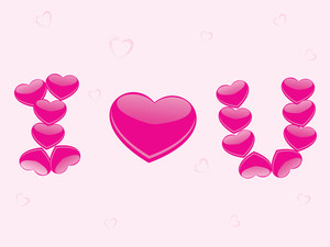 Pink Hearts Design Love Pattern