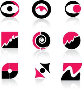 Pink Icons Set