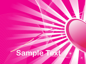 Pink Love Background With Rays