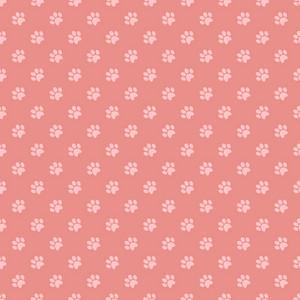 Pink Paw Print Pattern