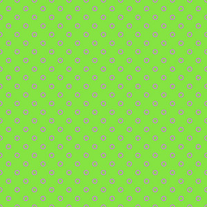 Pink Polka Dots Pattern On A Green Background