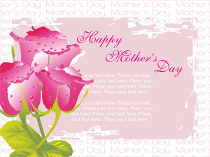 Pink Rose Background With Sample Text
