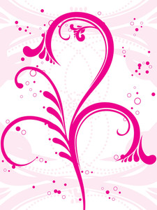 Pink Seamless Background With Floral