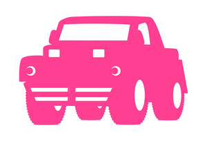 Pink Shape Jeep Vector