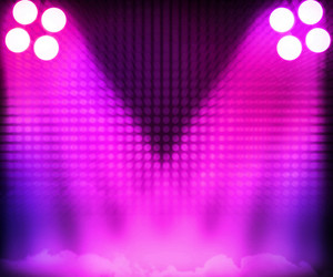 Pink Show Room Spotlights Stage Background