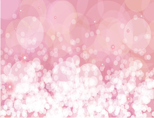 Pink Sparkles Vector Background.