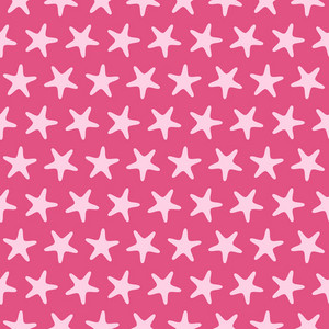 Pink Starfish Beach Pattern