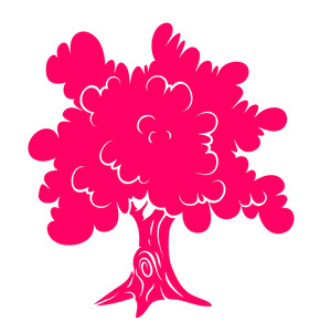 Pink Tree Shape