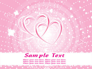 Pink Valentine Background Vector