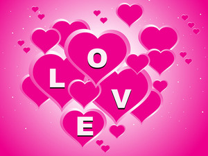 Pink Valentine Love Background