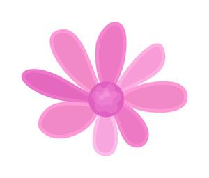 Pink Vintage Flower Vector