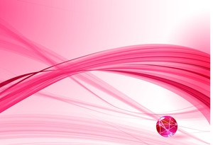 Pink Wave Abstract. Vector.