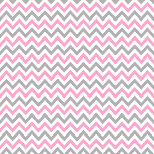 Pink, White, And Grey Chevron Pattern