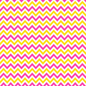 Pink, Yellow, And White Chevron Pattern