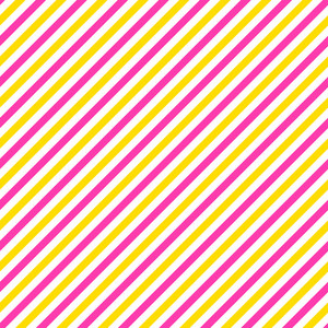 Pink, Yellow, And White Diagonal Stripes Pattern