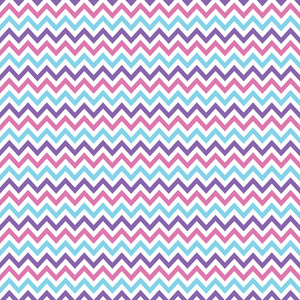 Blue, Purple, And White Chevron Pattern