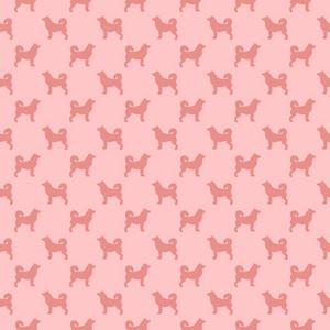 Pink Dog Pattern