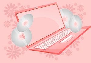 Pinky Laptop Floral