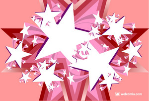 Pinky Stars Background