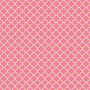 Yellow And Pink Quatrefoil Pattern