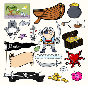 Pirate Cartoons Vector