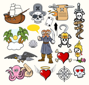 Pirate Cartoons Vectors